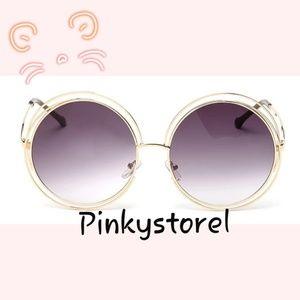 Accessories - 🐚NEW Vintage Gold Dark Purple Sunglasses🐚